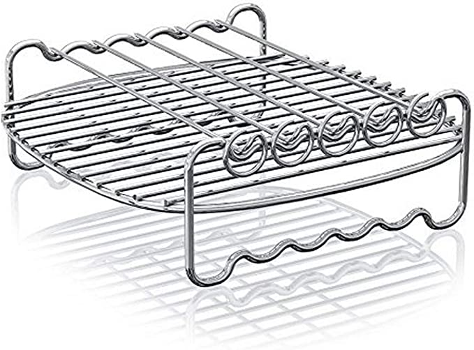Amazon.com: Philips Airfryer Double Layer Rack with Skewers- HD9905/00, For HD9240 models: Kitchen & Dining