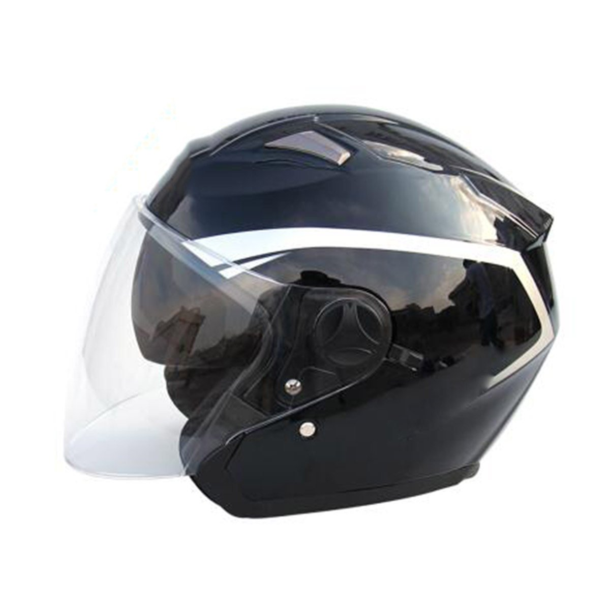 TZQ Goggles Half Open Motorrad Open Männer Helm Helm Lady Maske Helm