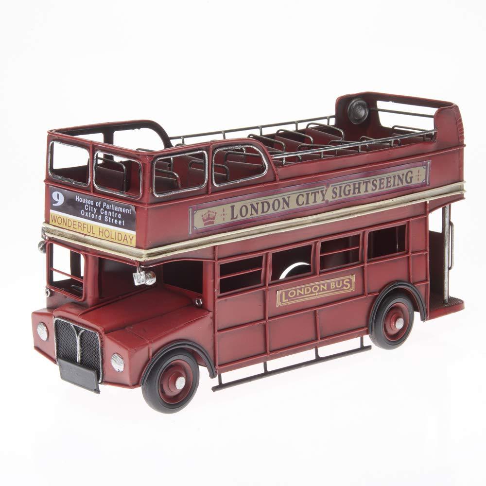 Pamer-Toys Modellauto aus Blech - im Antik-Vintage-Retro-Style - 25 -35 cm Länge (Doppeldecker-Bus, rot) B07PYTT3FG Fahrzeuge & Rennwagen Gutes Design | Neueste Technologie
