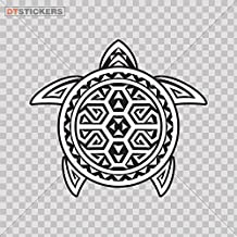 Sticker Turtle Tribal Tattoo Design Doors Doo durable Boat (7 X 6,22 In. ) Fully Waterproof Printed vinyl sticker