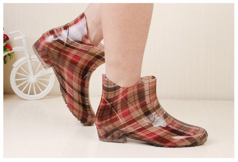 Hanxue Womens Waterproof Garden Shoes Rain Boots B01H6UHRC0 4.5 B(M) US Blue