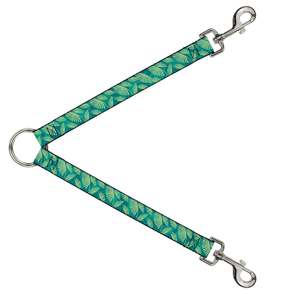 Buckle-Down DLS-W34201 Leash Splitter-Palm Leaves Stacked Pastel Greens, 1  W-30  L