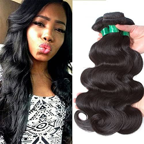 10A Brazilian Virgin Hair Body Wave 3 Bundles Deal 100% Unprocessed Brazilian Human Hair Weave Weft Natural Color Remy Human Hair Extensions Weaving (24