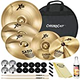 "Sabian XS20 Cymbal Set: 14"" X-Celerator Hats, 21"" Med Ride, 18"" Med-Thin Crash, 10"" Splash & 16"" Med-Thin Crash"