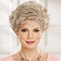 EMMOR Short Blonde Human Hair Wigs for Women Blend with Healthy Memory Fiber Pixie Cut Wig,Natural Daily Use Hair (Color 10/613#)