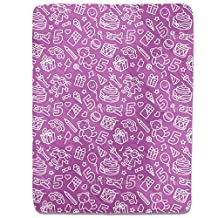 Kids Birthday Fitted Sheet: King Luxury Microfiber, Soft, Breathable