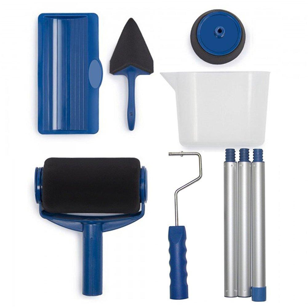 Gsahnc Rodillos Para Pintar Pro 8 PCS Roller Brush Prevenir Salpicadura La Salpicadura Prevenir De Pintura Brocha De Pared Cepillos De Esquina Para Oficina Habitación Casa Jardín DIY 7bb73d