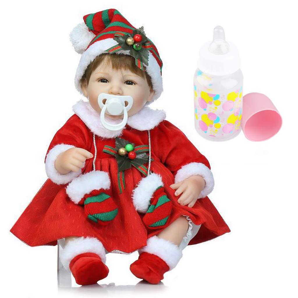 KESOTO Traje de Navidad de 40cm Muñeco Recién Nacido Regalo de Niño Muñeca de Simulación - 1