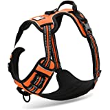 Chai's Choice Best Outdoor Adventure Dog Harness. 3M Reflective Vest Caution - Please Measure Dog Before Ordering! Matching L