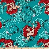 Disney Ariel Fleece Toss, Teal Yard