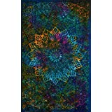 Tapestries Intricate Blue Tie Dye Star Design Indian Bedspread Twin Tapestry Hippie Wall Decor Mandala Bohemian Tapestry Psychedelic Tapestry Ethnic Decorative