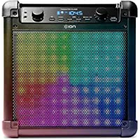 NEW! ION Audio Tailgater Flash 2-way Bluetooth Speaker with Sound Reactive LED Dynamic Light Show Mode and FREE Microphone, Black Finish