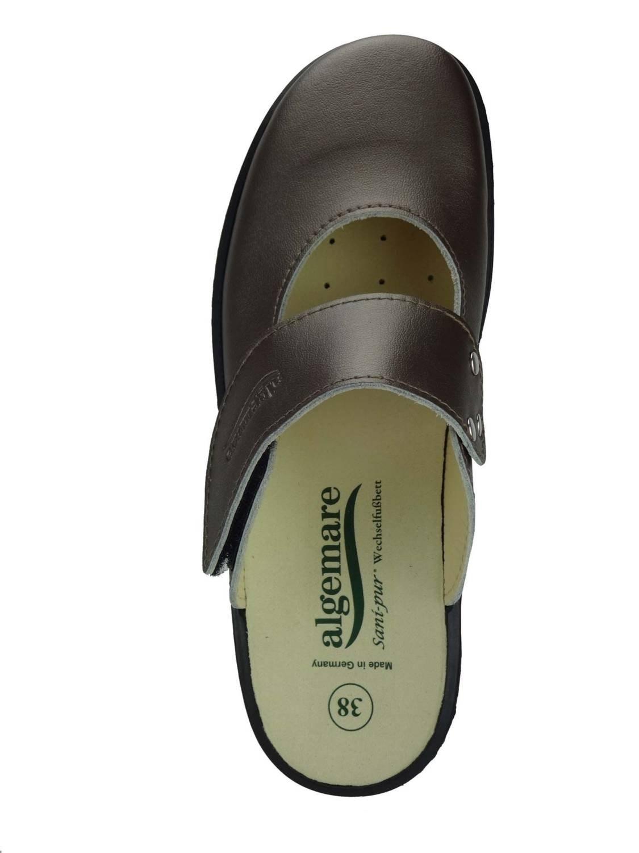 Algemare Damen Clog Hausschuh Hausschuh Clog aus Nappino mit waschbarem Sani-pur Wechselfußbett Pantolette 59482_9494 Sandalette, Größe:41 - 79c2cf
