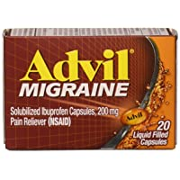Advil Migraine Liquid Filled Capsules 20ct 200mg Advanced Medicine For Pain (Pack...