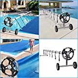 VINGLI Pool Reel Cover Set 18 FT Solar Cover Roller