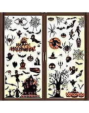Halloween raamstickers Halloween raamdecoratie statische elektriciteit venster klampt stickers muurstickers vleermuizen schedel pompoen spin voor Halloween party decoratie