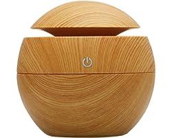Umidificador Ultrassônico Usb Tipo Madeira Difusor aromas imita madeira Umidificador Aromatizador Difusor Aroma Eletrico Led