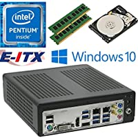E-ITX ITX350 Asrock H270M-ITX-AC Intel Pentium G4600 (Kaby Lake) Mini-ITX System , 32GB Dual Channel DDR4, 2TB HDD, WiFi, Bluetooth, Window 10 Pro Installed & Configured by E-ITX