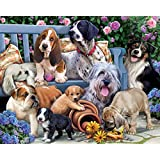 Dogs on a Bench Jigsaw Puzzle 1000 Piece