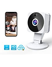 WiFi Security Camera, ZZCP HD 1080P Wireless IP Camera Indoor Home Camera Surveillance sans fil Nanny Cam with Two-Way Audio, Night Vision, Motion Detection and Cloudfor Baby/Elder/Pet Monitoring