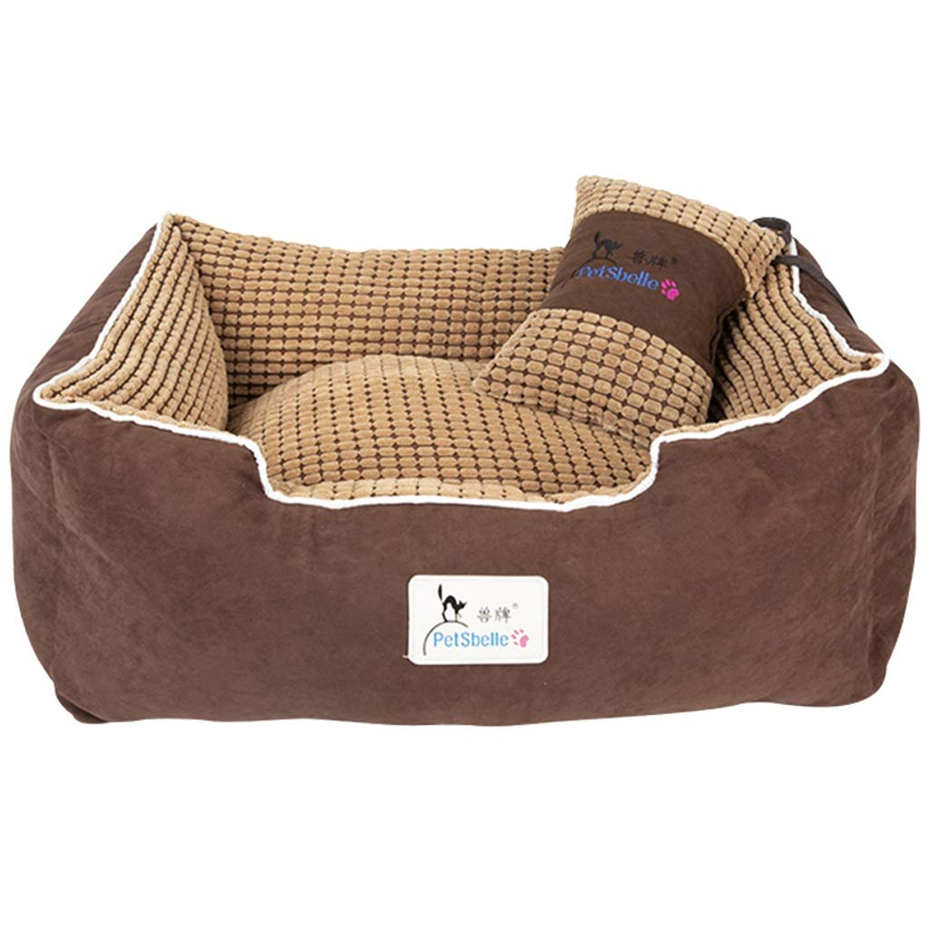 75×62×25cm JHD Kennels Pet Mat, Large Dog Kennel Cat House Washable Winter Cushion Warm Small Medium Sized Large Dog Pet Supplies (Size   75×62×25cm)