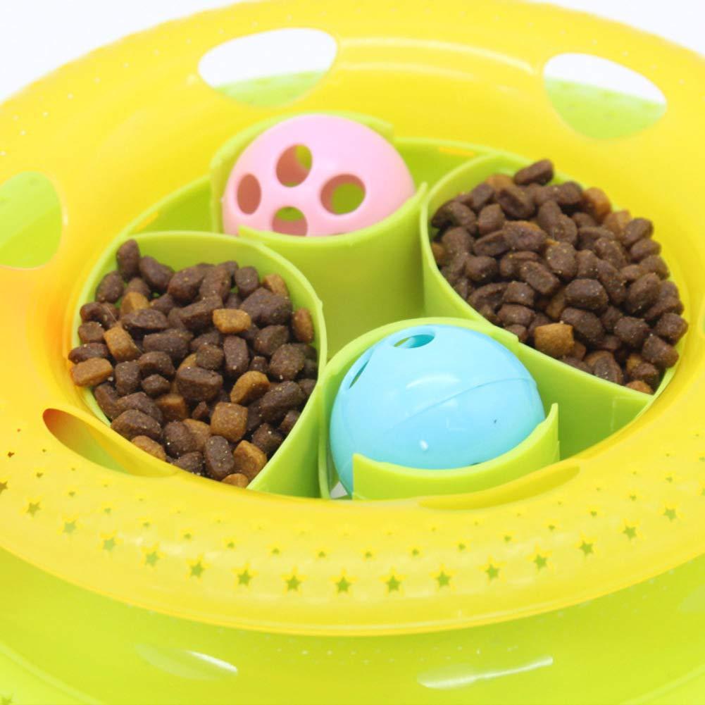 B Educational Toys Plastic Funny cat Stick Turntable Ball Cat ToyB