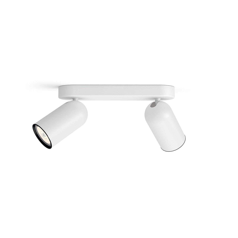 Philips myLiving Spot Pongee, inkl. GU10 Leuchtmittel, 2-flammig, weiß