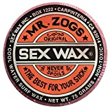 Mr. Zogs Original Sexwax - Cool Water Temperature Strawberry Scented (Light Red Color)