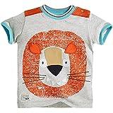 Fiream Little Boys&Girls Summer Cotton Short Sleeve T Shirt(Lion,6)
