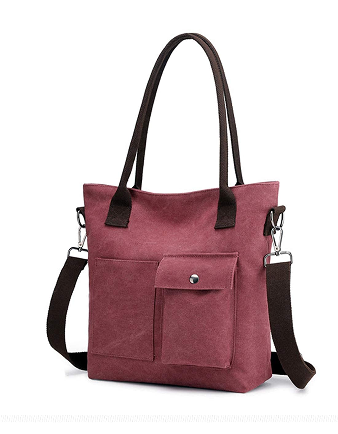1519purple Coffee Women's Large Capacity Canvas Bag Tote Bag Handbag Convenient Hobo Bag (15191520)