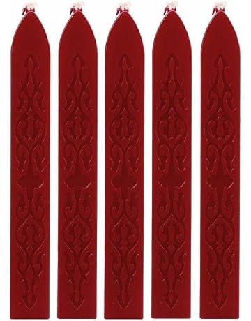 YIQI 12PCS Antico ceralacca bastoni con stoppini per affrancatura Lettera Retro Vintage con Sigillo di Cera Timbro Colori Assortiti