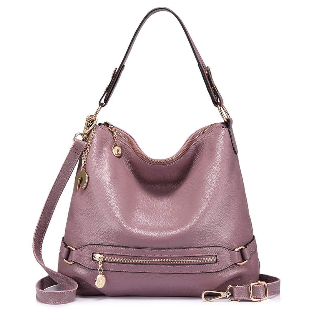 Light Purple women handbag ladies genuine leather messenger bag big shoulder crossbody bag female large tote bag