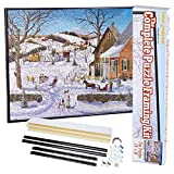 Bits and Pieces - Complete Puzzle Framing Kit - Custom Black Metal Frame Fits 18 x 24 Inch Puzzles
