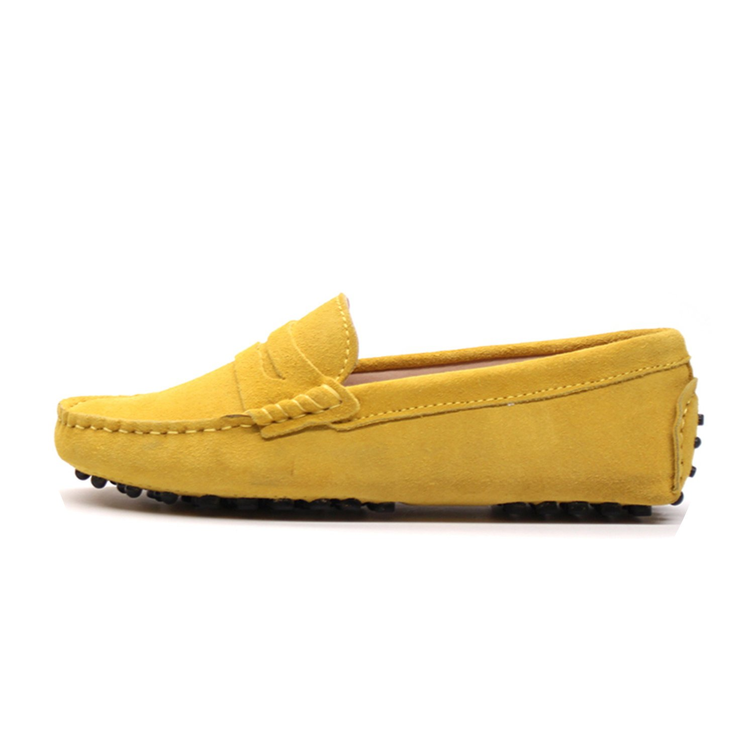 2018 New Women Flats Genuine Leather Driving Shoes Summer Women Casual Shoes B07DTZHVQR 7 B(M) US|Yellow
