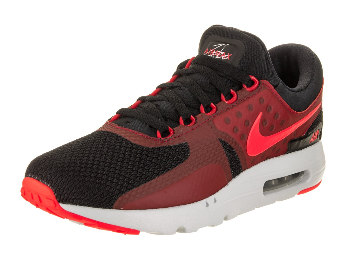 NIKE Air Max Zero Essential Mens Running Shoes B0722CMJ5K 8.5 D(M) US|Black / Bright Crimson-gym Red-wolf Grey