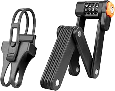 Portable Bike Folding Password Lock Safety Anti-theft Alloy Steel Bicycles Z2D1