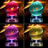 Solar System 3D Crystal Ball with LED lamp Base