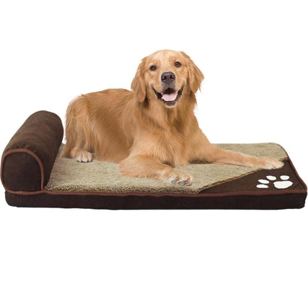 A Large A Large Weiwei golden Retriever can be Washed and Washed Teddy Dog Bed Dog mat Warm Small Medium-Sized Large Dog pet Supplies Winter