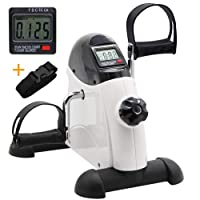 Hausse Portable Exercise Pedal Bike for Legs and Arms, Mini Exercise Peddler with...