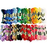 Labellevie Cross Stitch Floss Mixte Color Embroidery Floss Sewing Threads 50 Skeins