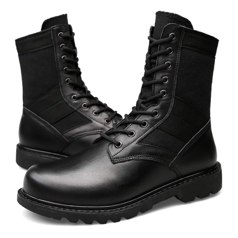 WDYY Winter Herren Plus Pelz Pelz Pelz Stiefel Werkzeug Schuhe Herren Outdoor-Leder Martin Stiefel Militärstiefel 540367