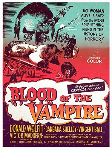 Blood Of The Vampire Donald Wolfit Barbara Shelley Victor Maddern 1958. Big Poster Masterprint (24 x 36)