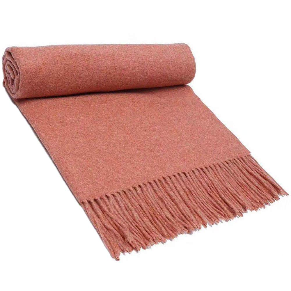 28 Scarf, Pure Wool Scarf Textile, Solid color Warm Pure Cashmere Scarf Men and Women Shawl 200CM