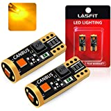 LASFIT 194 168 T10 2825 W5W LED Bulb - Amber Yellow - Canbus Error Free, Non-Polarity 400LM Extremely Bright for Side Marker