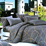 Blancho Bedding - [Reminiscent Mood] 100% Cotton 3PC Comforter Cover/Duvet Cover Combo (Twin Size)