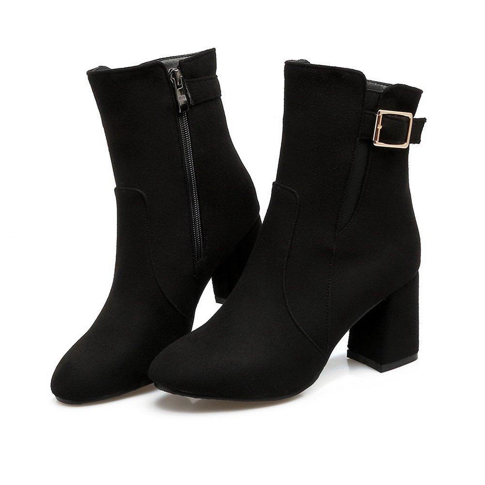 AandN Womens Boots Closed-Toe Zip Not_Water_Resistant Kitten-Heels Warm Lining Rubber Not_Water_Resistant Zip Not_Water_Resistant Not_Water_Resistant Urethane Boots DKU01967 B0791XWL6S Boots baf9cb