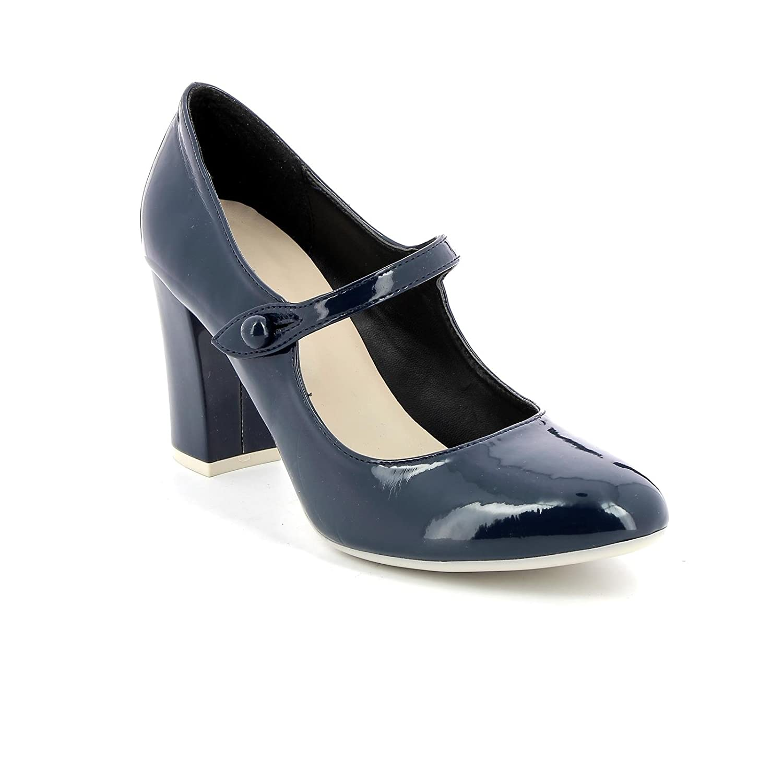 Obsel:: by Scarpe&Scarpe - Scarpe col Tacco con Cinturino, in Vernice - 36,0, Blue  -