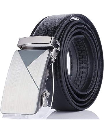 Ogquaton Hombres duraderos Cinturón informal Cinturón de negocios de moda  Cinturón de cuero artificial con hebilla 81cb49152bff