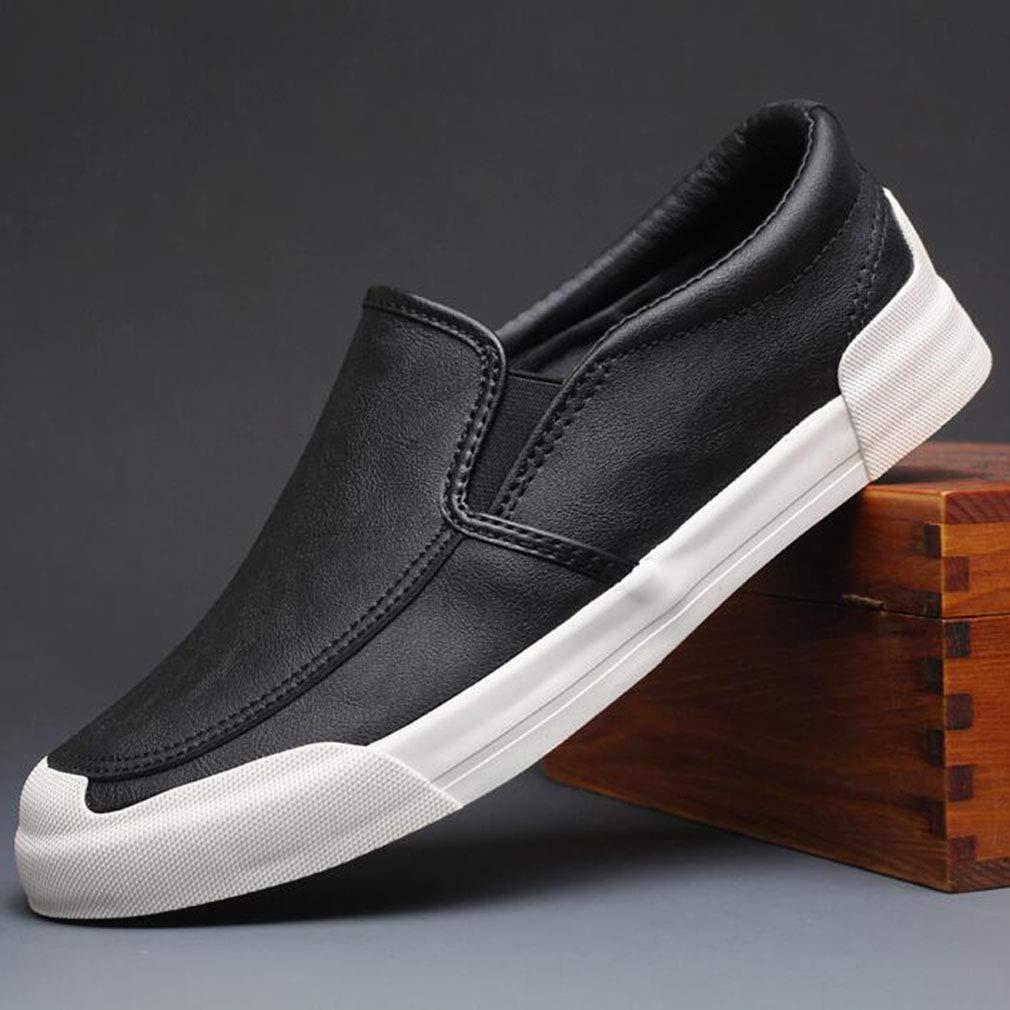 YCSD Herren Turnschuhe Slip On Loafer - Mode Lederschuhe (Farbe   SCHWARZ, größe   EU43 UK9 CN44)