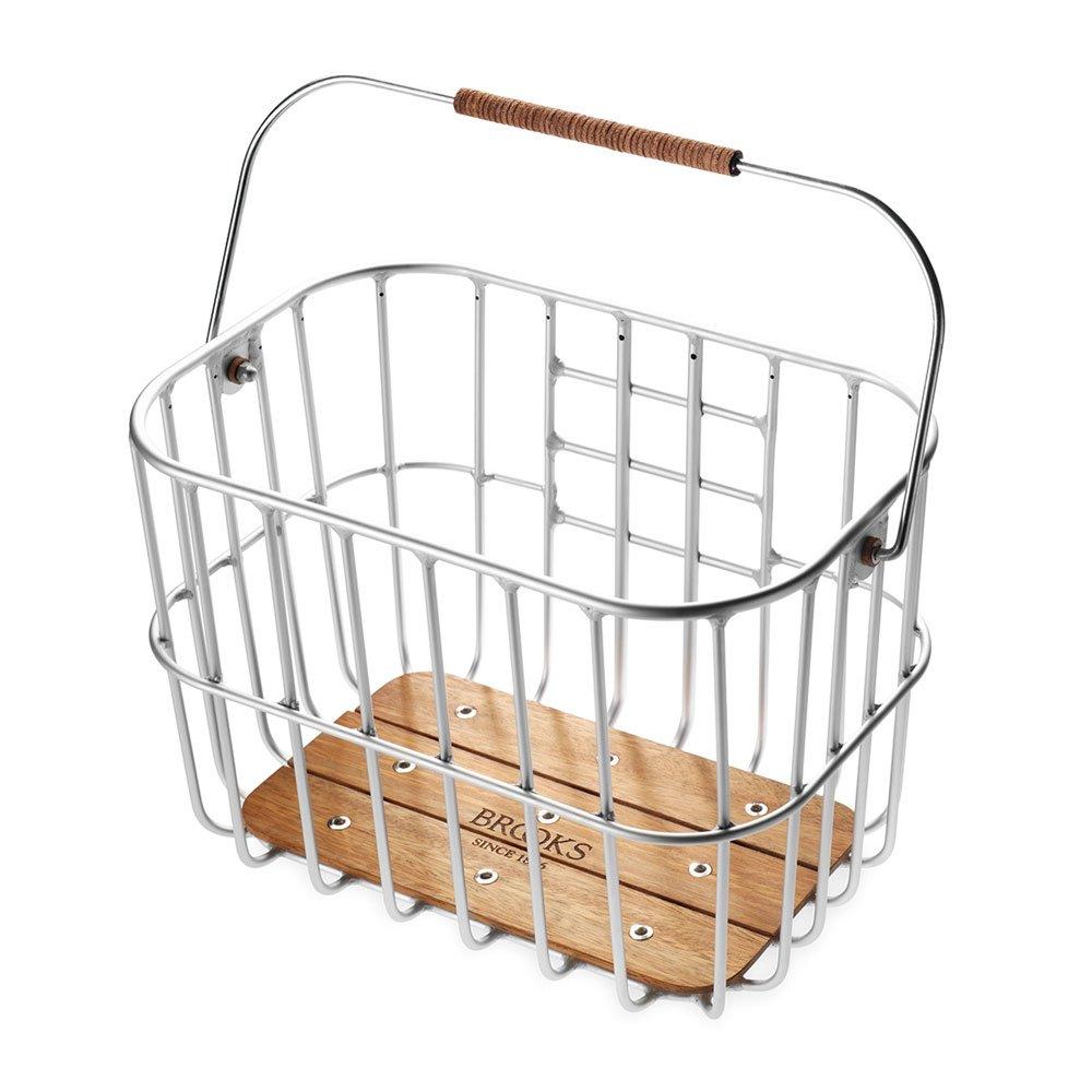 BROOKS(ブルックス) ホクストン おしゃれなワイヤーバスケット 25L 金属製ボディ+ウッド製底板+丸みを帯びたデザイン 付け外し簡単、取っ手つき 【日本正規品/2年間保証】